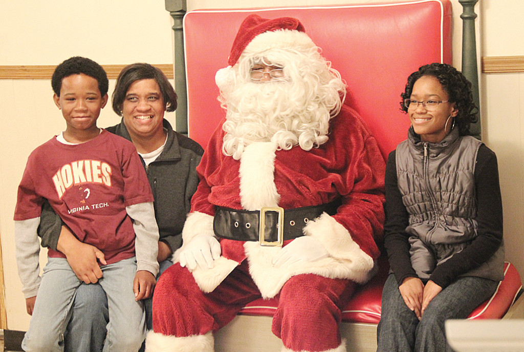 Family with Soul Santa.