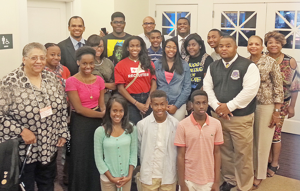 NAACP President Brenda Hale with Youth Council and community leaders attend City EXPO.