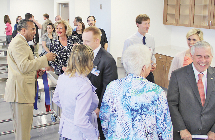 Tour: Attendants tour the new Virginia Intercollegiate Anatomy Lab at Jefferson College of Health Sciences.