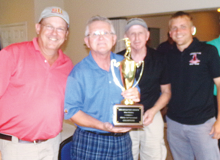 Winners (from left): lst place: First Team Auto Mall, Mark Pinkard, Bill Ferguson, Randy Waldron and Jordan Pinkard.